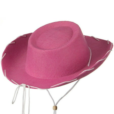 Pink Felt Cowboy Child Hat Woody Toy Story Jessie Cowgirl Sheriff Costume - Foam Cowgirl Hats