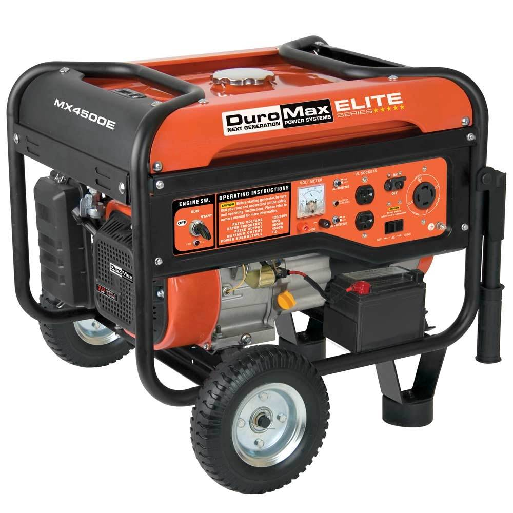DuroMax Elite Series 4500 Watt 7.0 Hp Gas Generator