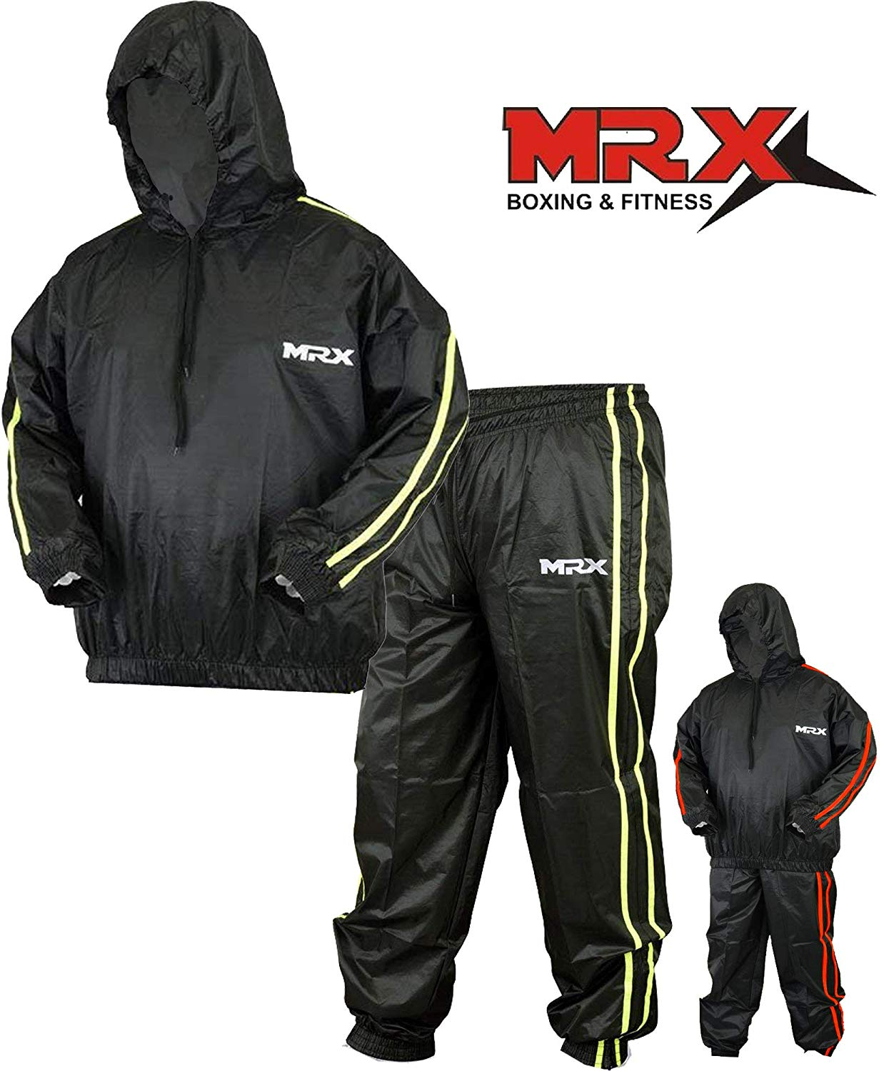Working Out Gym /& Slimming Exercise Heavy Duty Sauna Sweat Suit for Weight Loss