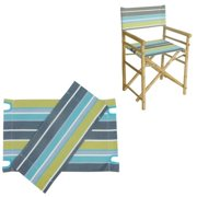 ZEW AC-999-05S Canvas For Director Chair - Green Stripes