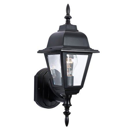 Street Wall Mount Outdoor Light (Design House 507566 Maple Street 1-Light Indoor/Outdoor Wall Light, Black)