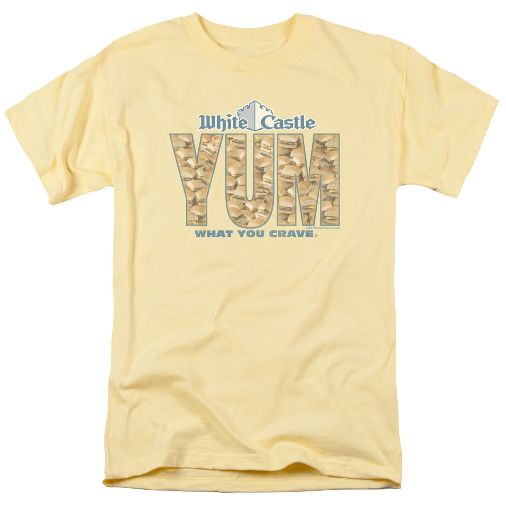 White Castle HOT /& STEAMY Licensed Adult Heather T-Shirt All Sizes