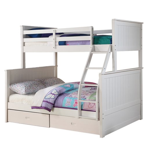 Harriet Bee Lynne Twin Over Full Bunk Bed with Drawers