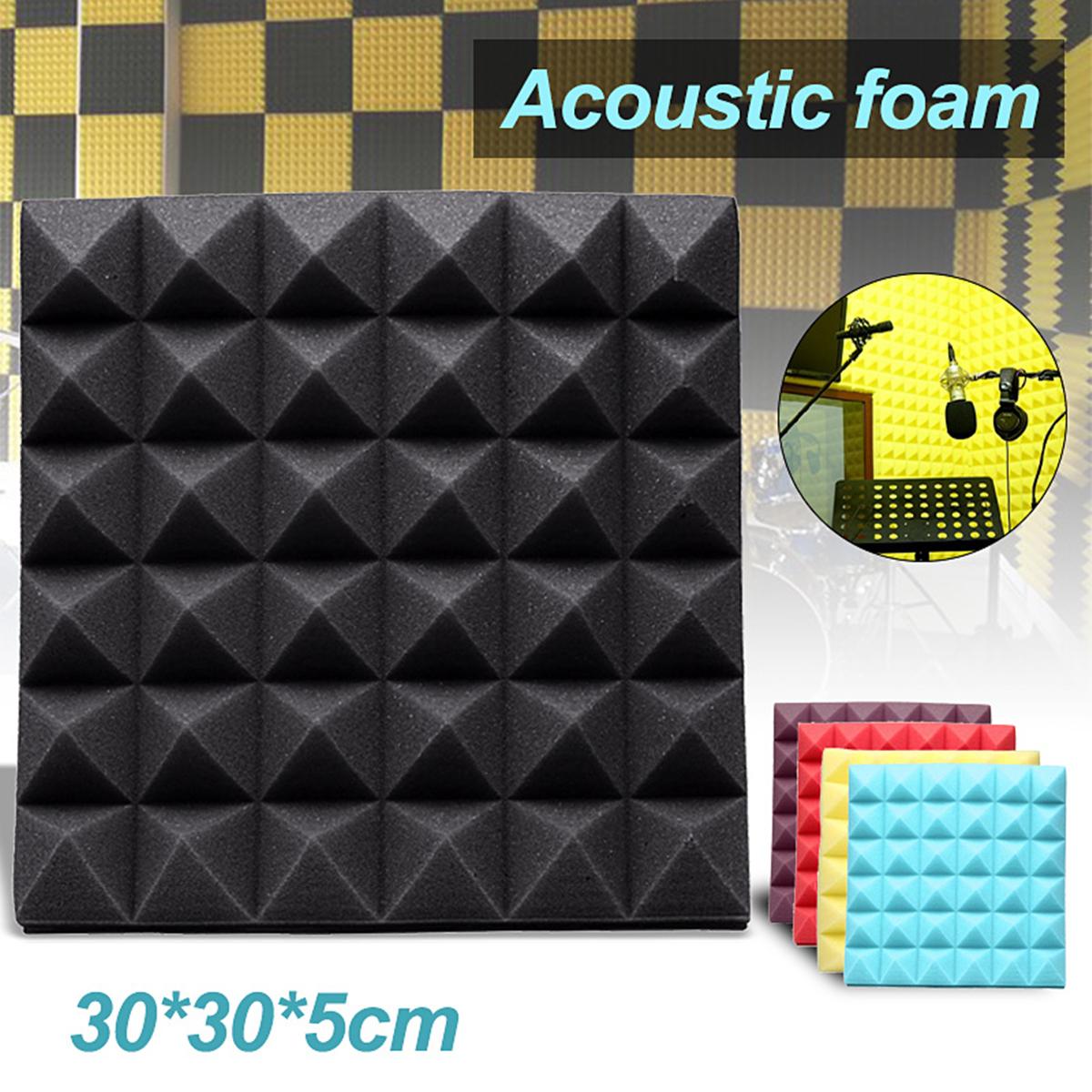 "1Pcs 2""x12""x12""Acoustic Foam Panels Studio Soundproofing Treatment Absorption Panel Tile Wedge Sponge for Studio/Drum Room/KTV"