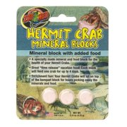 Zoo Med Hermit Crab Mineral Blocks with Added Food, .15 Oz, 3 Ct