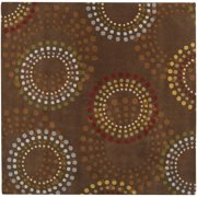 Hand-tufted Brown Contemporary Circles Mayflower Wool Geometric Rug (8' Square)