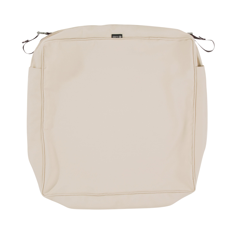 Classic Accessories 23 X23 X5 Beige Patio Cushion Slipcover Montlake