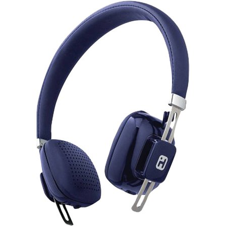 ihome ib81lc over ear bluetooth wireless headphones with microphone blue. Black Bedroom Furniture Sets. Home Design Ideas