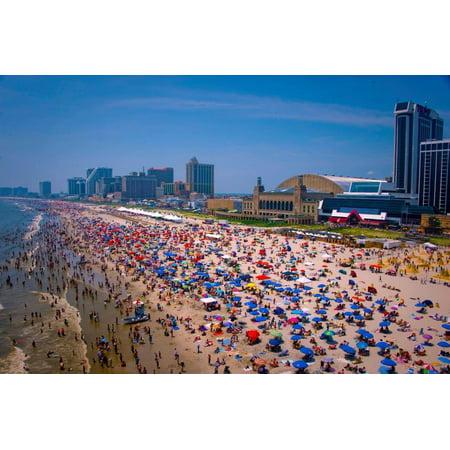 Laminated Poster Atlantic City New Jersey Shore Skyline Poster Print 24 x 36 - Jersey Shore Dress Up