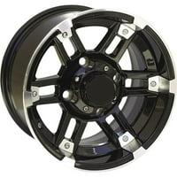 Black w/Machined 14x7, 4/115, 5+2 Ocelot One Zero Four Wheel - 14X7 4/115 5+2