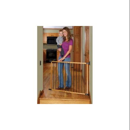 Designer Angle Mount Wood Safeway Baby Pet Gate Oak