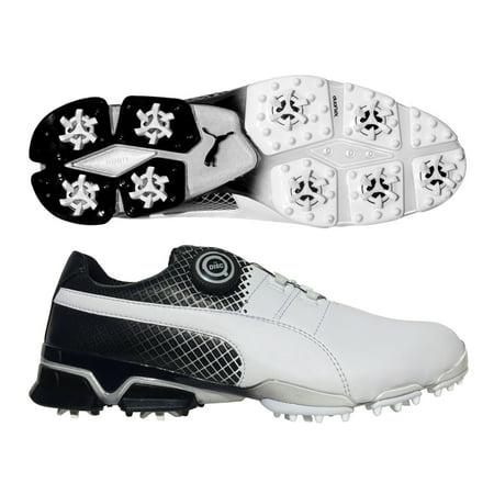 cd340b0d7d3 PUMA TitanTour Ignite Disc Golf Shoes - Special Edition White Black -  Walmart.com