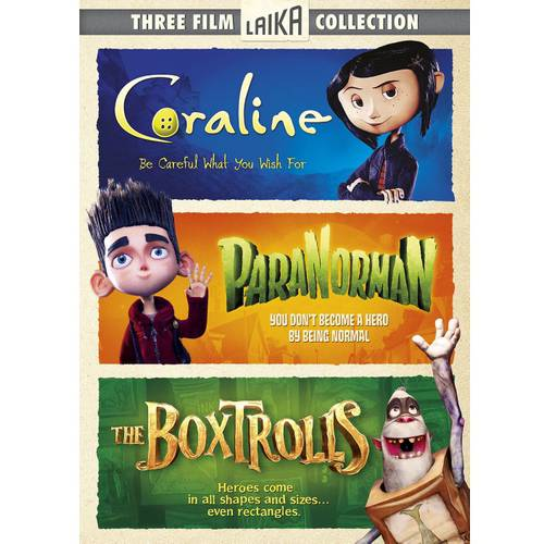 Three Film Colletion: The Boxtrolls / Coraline / Paranorman (With INSTAWATCH)