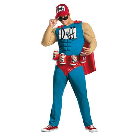 Costumes For All Occasions Dg27895D Simpsons Duffman Muscle 42-46 - Nelson Simpson Halloween