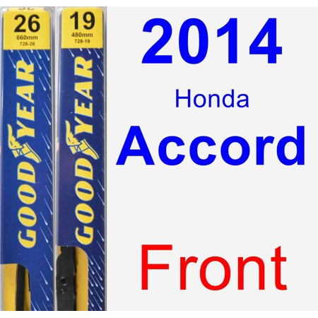 2014 Honda Accord Wiper Blade Set/Kit (Front) (2 Blades) - (Honda Accord Windshield Wiper Blades)
