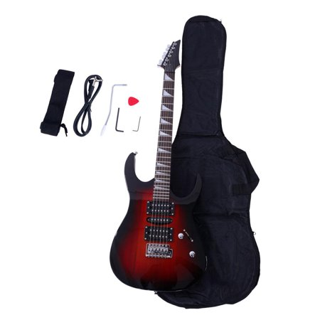 Top Solid Body Electric Guitar - Ktaxon IRIN Electric Guitar + Bag + Strap + Cord + Pick + Tremolo Bar + Link Cable