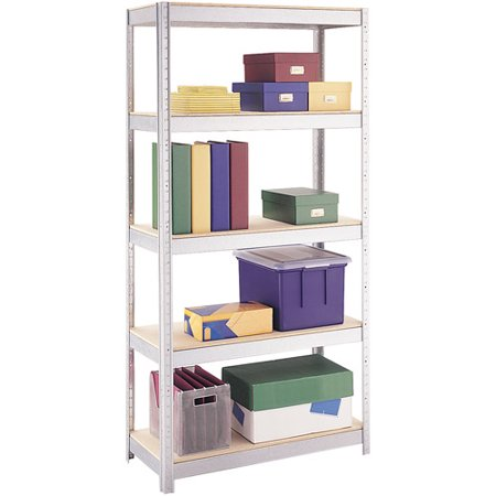 Space Solutions 500 Series 5 Shelf Shelving  Galvanized Finish