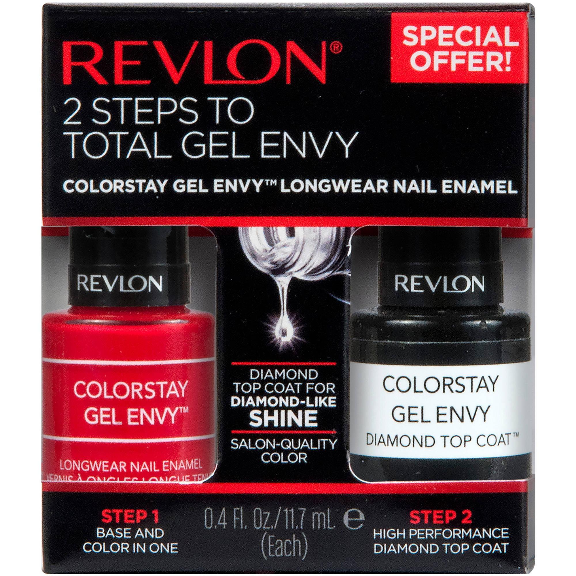 Revlon ColorStay Gel Envy Longwear Nail Enamel, .4 fl oz, 2 count