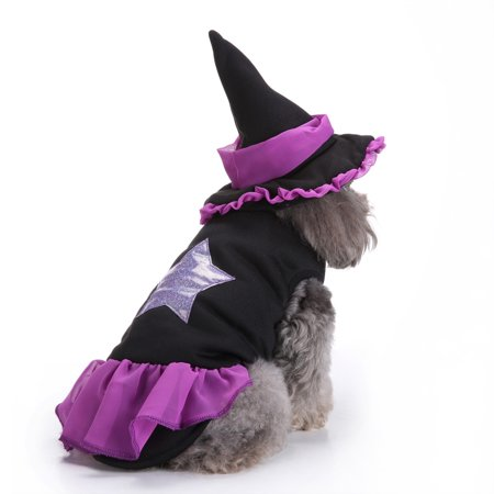 Pet Halloween Cat Clothes Puppy Dressing Up Dog Party Clothes Plus Hat - Dressing As A Cat For Halloween