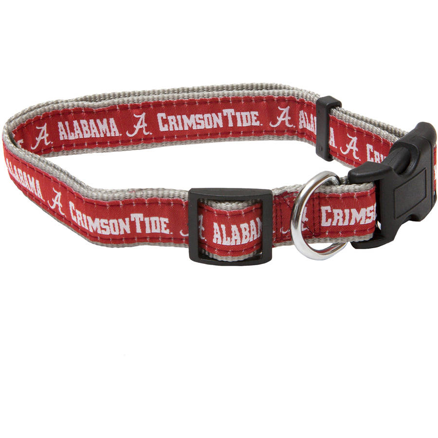 Pets First College Alabama Crimson Tide Pet Collar, 3 Sizes Available, Sports Fan Dog Collar