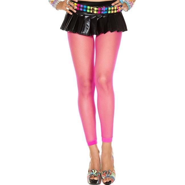 Fishnet Spandex Leggings, Hot Pink - image 1 de 1