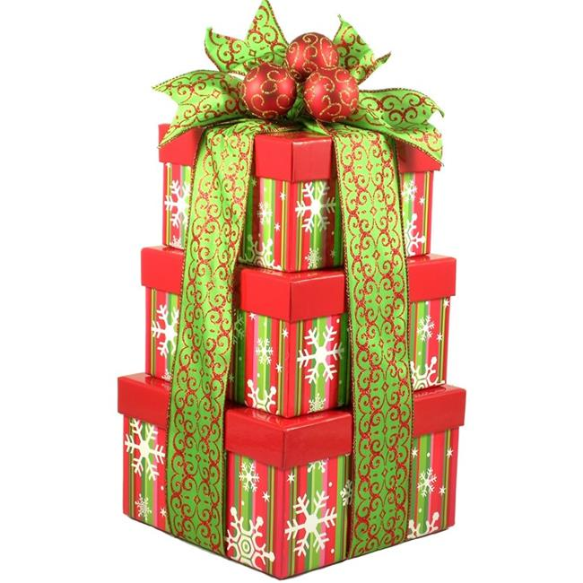 Gift Basket Drop Shipping MeChHoTo Merry Christmas, Holiday Gift Tower