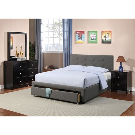 Master Bedroom Furniture 4pc Set Queen Size Bed w Storage Drawer FB ...
