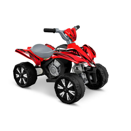 - Kid Motorz 6V Xtreme Quad Battery-Powered Ride-On, Red