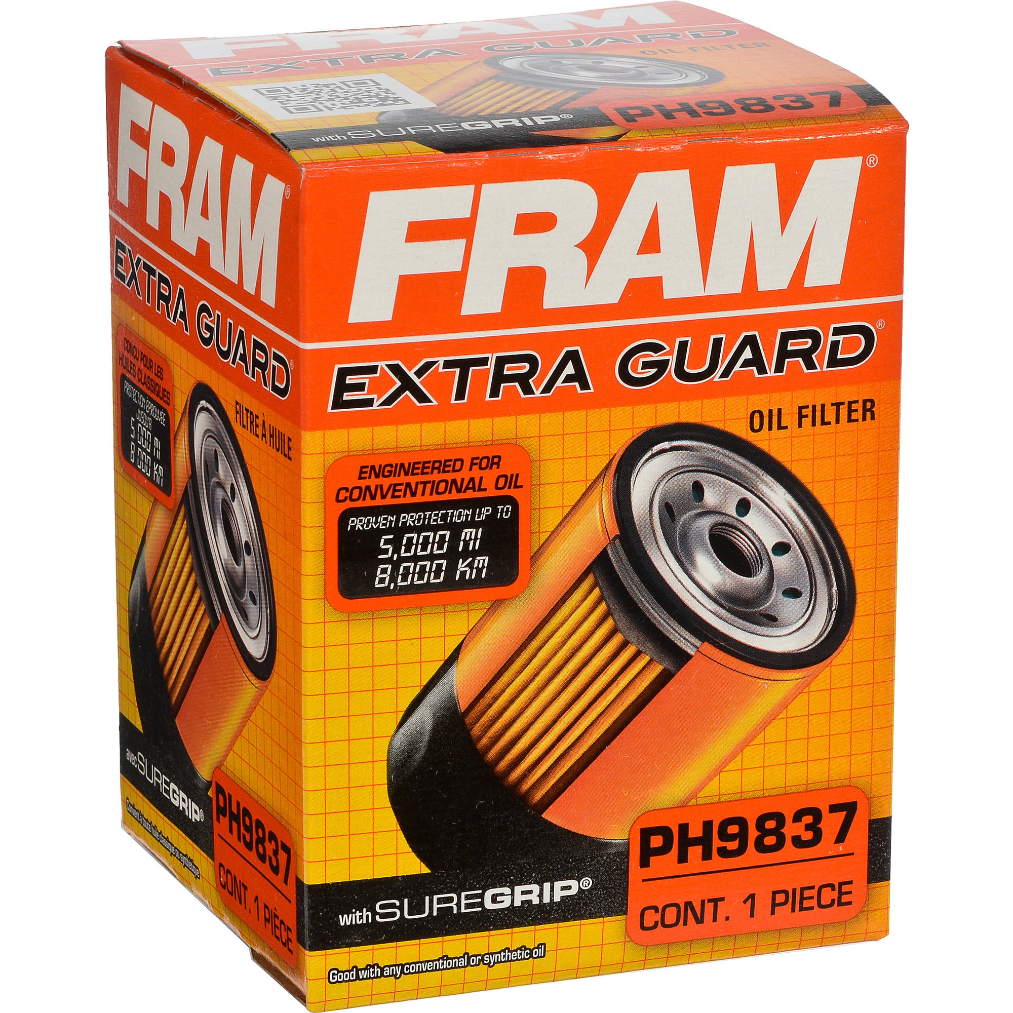 FRAM Extra Guard Oil Filter, PH9837