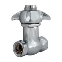 EZ-FLO 10187LF Brass IPS Inlet and Outlet Self-Closing Stop Valve, 1/2 in