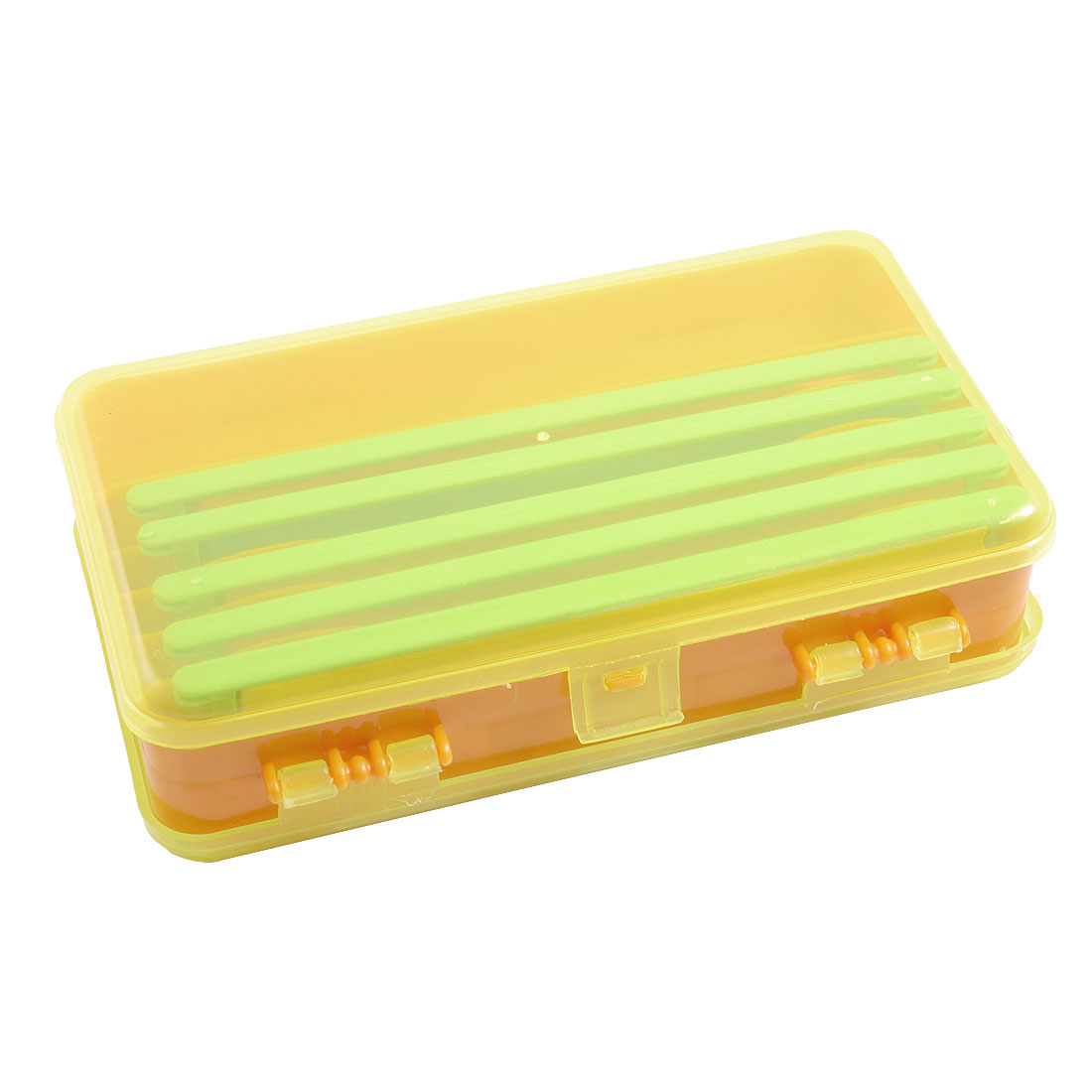 Unique Bargains Unique Bargains Double Sides Fishing Tackle Box Hook Lure Case with 5 Line Winders by Unique-Bargains