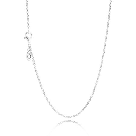 45 Cm Necklace - Delicate Silver Chain, 45 cm / 17.7in Necklace & Pendants 45 cm 590515-45