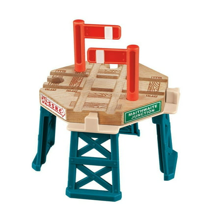 Fisher Price Thomas and Friends Wooden Train Railway Elevated Crossing Gate - Railroad Crossing Costume