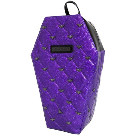 - Rock Rebel Mina Quilted Coffin Backpack Purple