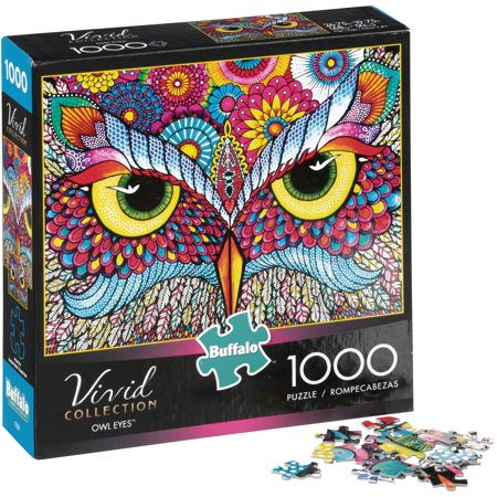 Buffalo Games Vivid Collection Owl Eyes 1,000 Piece Jigsaw