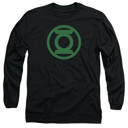 Green Lantern Green Emblem   L S Adult 18 1   Black   Lg