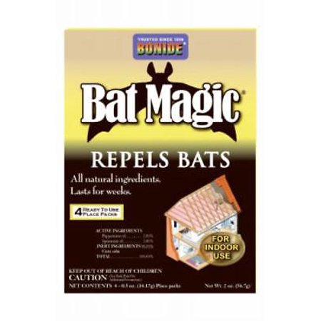 Bat Magic - 4pc Bat Magic Bat Repellent Safely Repels Bats From Attics 2PK