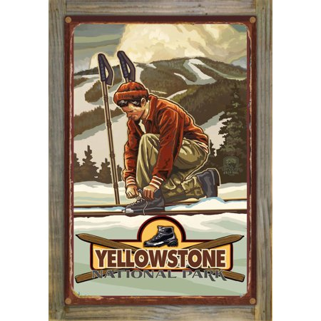Yellowstone Classic Binding Rustic Metal Print on Reclaimed Barn Wood by Paul A. Lanquist (12