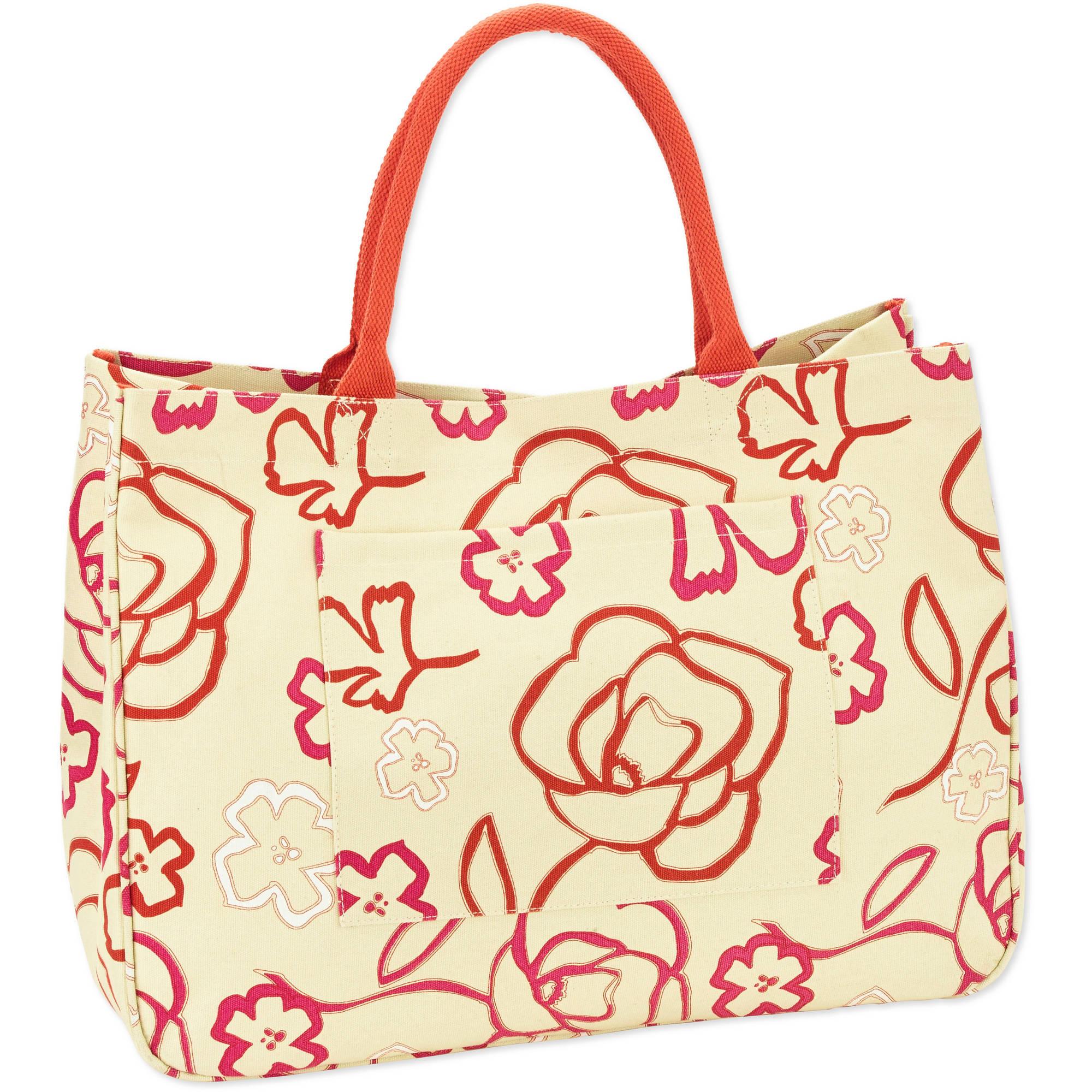 No Boundaries 20''Women's Printed Canvas Tote Beach Bag