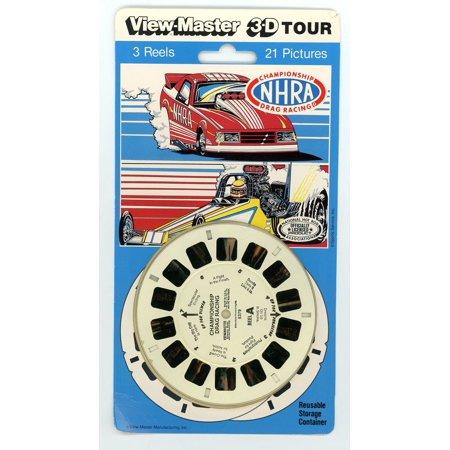 Drag Nhra Racing - NHRA Championship Drag Racing 3d View-Master 3 Reel Set By View Master