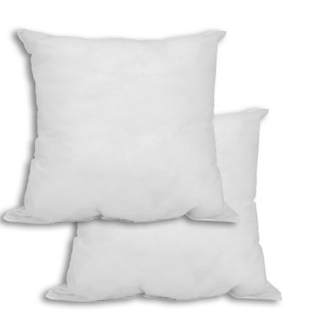 Set Of 2 20 X Premium Hypoallergenic Stuffer Pillow Insert Square White