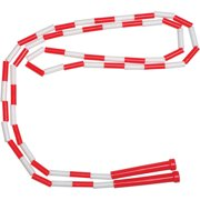 School Smart 7' Plastic Links Jump Rope, Red