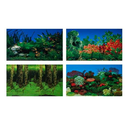 Fish Faceplate - Aqua Culture Two-Sided Aquarium Background, 20-29 Gallon Tanks