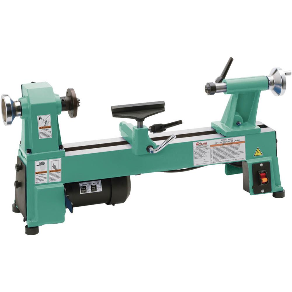 "Grizzly H8259 10"" x 18"" Bench-Top Wood Lathe"
