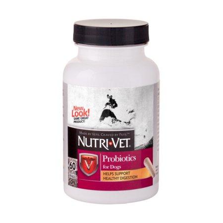 Nutri-Vet Probiotics Capsules 60ct (Best Probiotic For Dogs After Antibiotics)