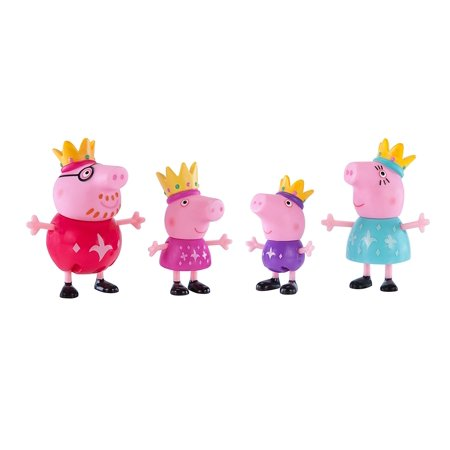 Royal Family (4 Pack), Includes: princess peppa, the small prince george, queen mommy pig and king daddy pig each By Peppa Pig - George Pig
