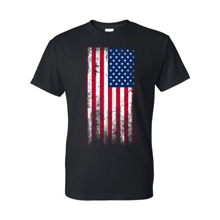 f59194da Custom Apparel R Us - American Flag Red White Blue USA Mens Graphic Tees  Short Sleeve T-Shirt - Walmart.com
