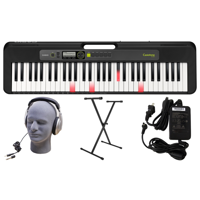 Casio LK-S250 PPK 61-Key Premium Lighted Keyboard Pack with Stand, Headphones & Power Supply