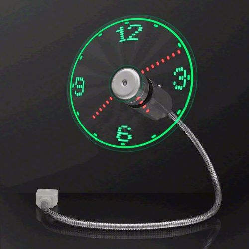 LED Fan Clock with USB Connection by Blinkee