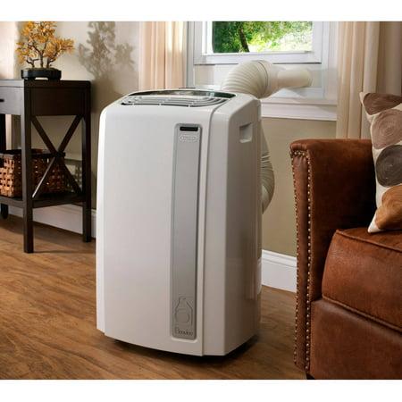 DeLonghi Pinguino PAC-AN140HPEWC Whisper Quiet 14,000 BTU Portable Air Conditioner with Heat Pump and BioSilver Air Filter